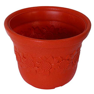 Sun flower Pot Terracotta - Set of 3