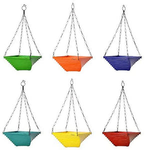 Twister Hanging Basket ( Set of 4 ) - 9 inches