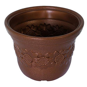 Sun flower Pot Brown -Set of 3