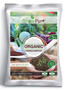 Grow Pure Organic Vermicompost-5Kg