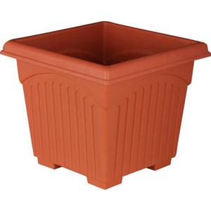 Square Pot - Set of 3 - Brown