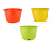 Leafy Pot - Set of 3 - Multi-color (12 Inches)