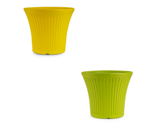 Tancy Pot (Yellow and Green) - Set of 2