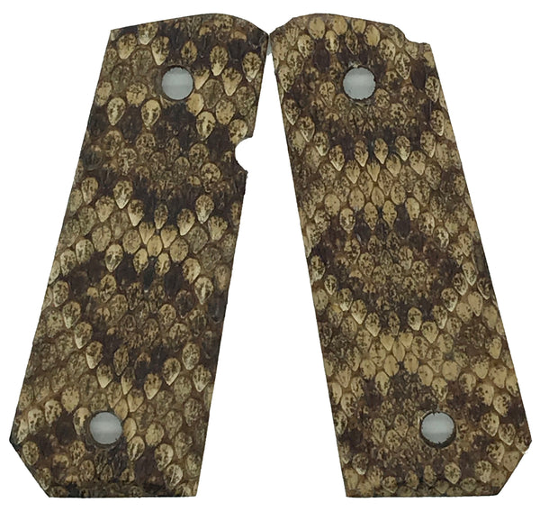 1911 Compact size grips - Genuine Rattle Snake Skin