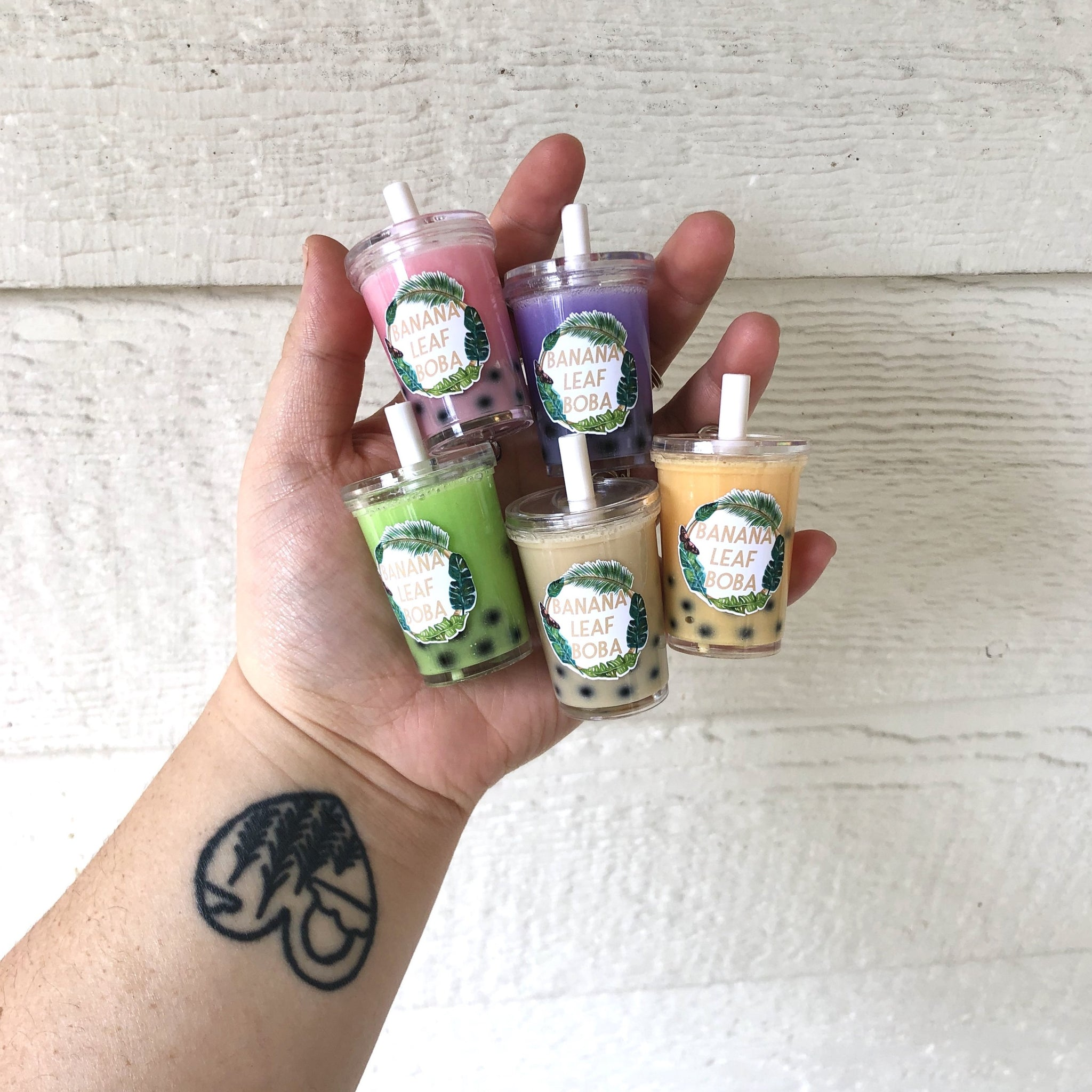 Mini Boba Keychains PRE ORDERS - Banana Leaf Tumblers Custom Tumblers Flasks