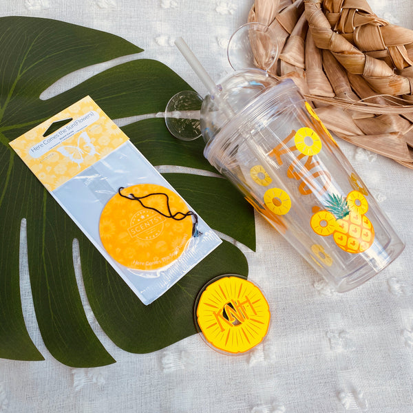 Personalized 16oz Mouse Tumbler - Banana Leaf Tumblers Custom Tumblers Flasks