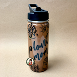 18oz Stainless Steel Flask - Banana Leaf Tumblers