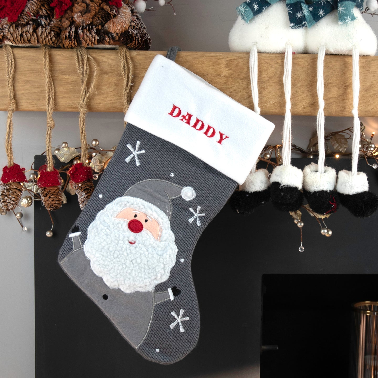 Personalised Embroidered Father Christmas Stocking