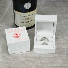 Load image into Gallery viewer, Personalised Wooden Wedding Ring Keepsake Box