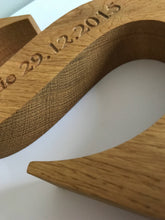 Load image into Gallery viewer, Personalised Solid Oak Wooden Alphabet Letter