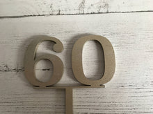 Load image into Gallery viewer, Wooden Number Cake Toppers, Gold Cake Topper, Birthday Cake Topper, Wood Cake Topper, Cake Decoration, Rustic Cake Topper, Birthday