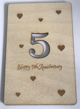 Load image into Gallery viewer, 5th Wedding Anniversary Personalised Postcard
