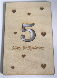 5th Wedding Anniversary Personalised Postcard