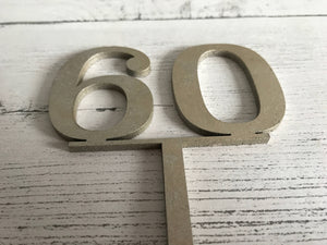 Wooden Number Cake Toppers, Gold Cake Topper, Birthday Cake Topper, Wood Cake Topper, Cake Decoration, Rustic Cake Topper, Birthday