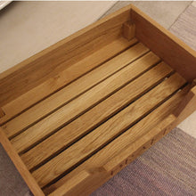 Load image into Gallery viewer, Personalised Luxury Solid Oak Pet Bed