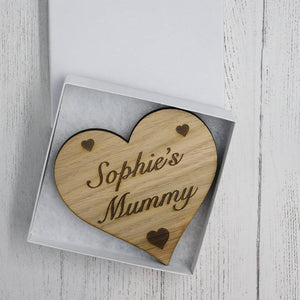 Personalised Heart Drinks Coaster