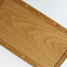 Load image into Gallery viewer, Solid Oak Cheese Lovers Wooden Serving Board