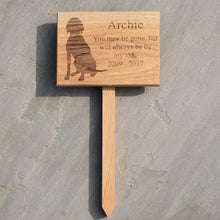 Load image into Gallery viewer, Solid Oak Personalised Pet Memorial Plaque