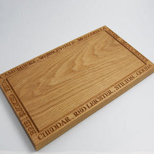 Solid Oak Cheese Lovers Wooden Serving Board