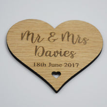 Load image into Gallery viewer, Personalised Mr & Mrs Heart Drinks Coaster