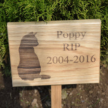 Load image into Gallery viewer, Solid Oak Pet Memorial Plaque