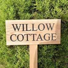 Load image into Gallery viewer, Traditional Large Solid Oak House Sign