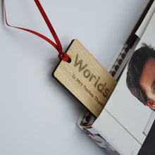 Load image into Gallery viewer, Personalised Teacher Gift Wooden Bookmark