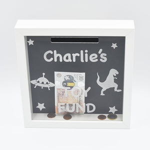 Personalised Toy Fund Money Box Frame