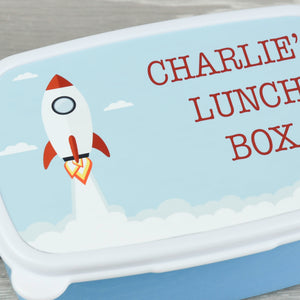 Child's Personalised Rocket Design Lunch Box