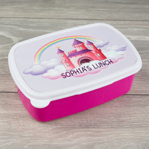 Child's Personalised Princess Castle Design Lunch Box
