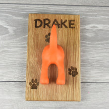 Load image into Gallery viewer, Personalised Solid Oak Pet Lead Hook