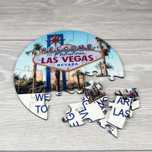 Load image into Gallery viewer, Personalised Holiday Reveal Surprise MDF Photo Puzzle with Message