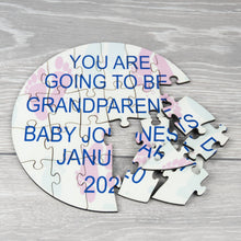 Load image into Gallery viewer, Personalised Baby Reveal Round Photo Puzzle