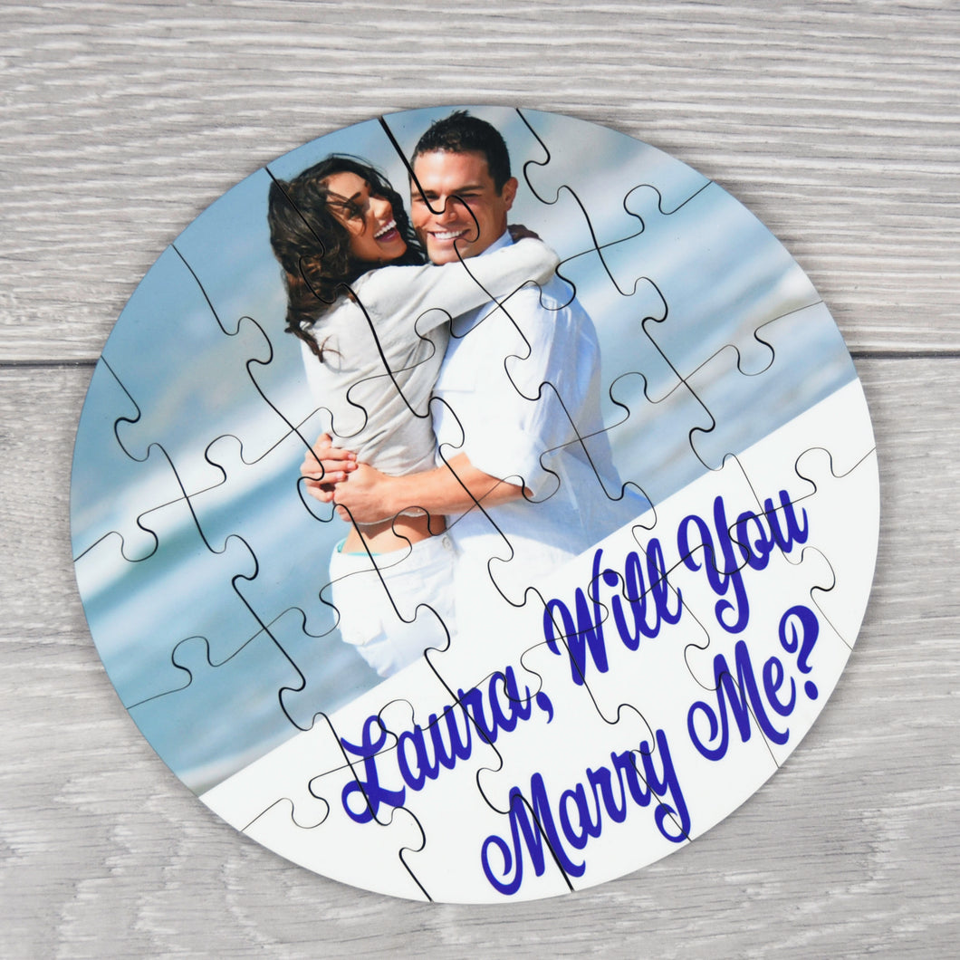 Personalised Wedding Proposal Photo Puzzle with Message