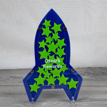 Load image into Gallery viewer, Personalised Childs Rocket Design Reward Drop Box