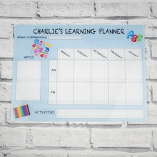 Load image into Gallery viewer, Personalised Large Acrylic Home School Learning Hanging Planner