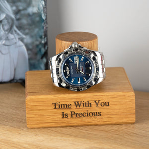 Personalised Solid Oak Single Watch Stand