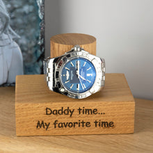 Load image into Gallery viewer, Personalised Solid Oak Single Watch Stand