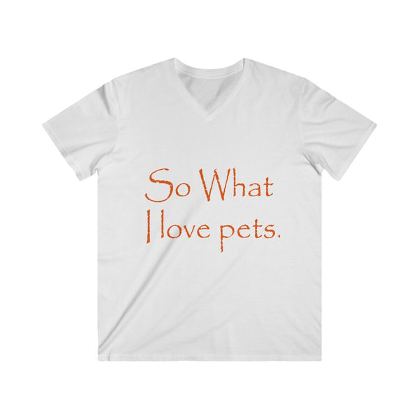 Men's Soft Fitted V-Neck Tee Shirt - Pets Tee Shirt Store
