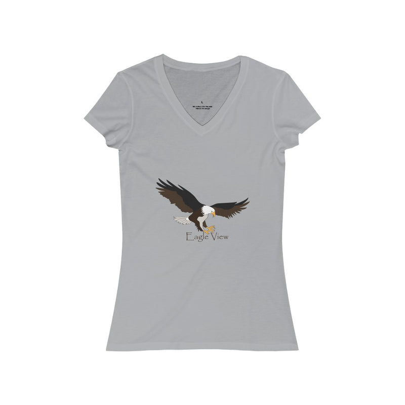 Women's V-Neck Eagle Jersey Short Sleeve Tee Shirt - Pets Tee Shirt Store