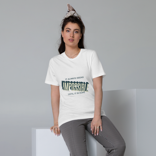 Impossible Unisex Organic Cotton Tee-Shirt - Pets Tee Shirt Store
