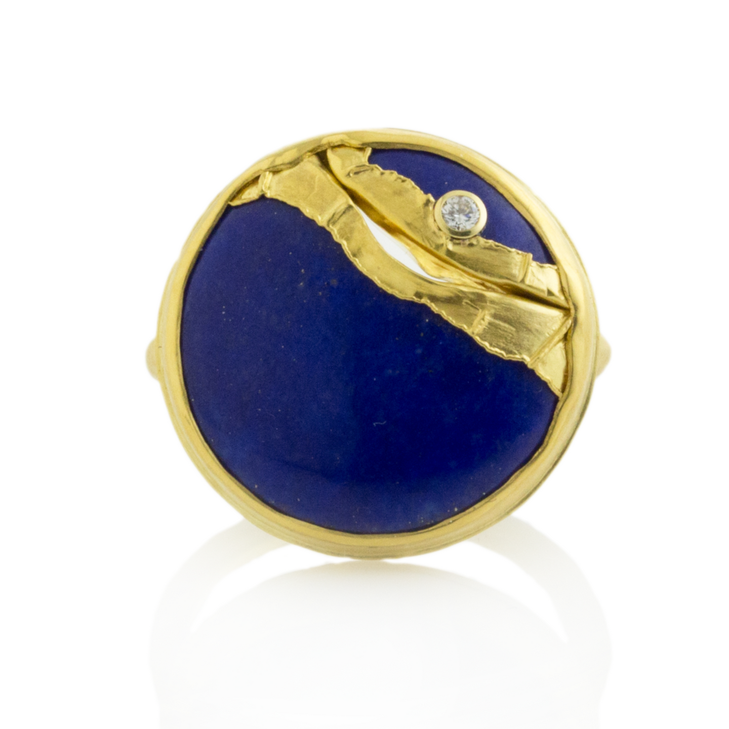 22K Golden Joinery Lapis Ring