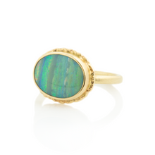 Load image into Gallery viewer, 14K Gold Oval Boulder Opal Ring