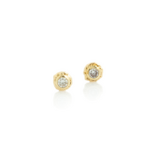 Load image into Gallery viewer, 0.12 tcw Diamond Ruffled Edge Post Earrings
