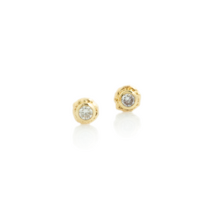 0.12 tcw Diamond Ruffled Edge Post Earrings