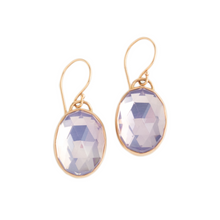 Load image into Gallery viewer, Sterling & 14K Rose Gold Lavender Amethyst Earrings