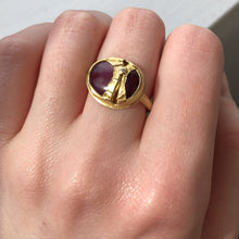 Load image into Gallery viewer, 22K Golden Joinery Smooth Ruby Ring