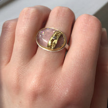 Load image into Gallery viewer, Sterling & 22K Golden Joinery Morganite Ring