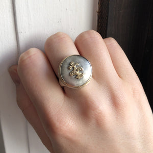 Sterling and 14K Gold Small Bonsai Tree Ring