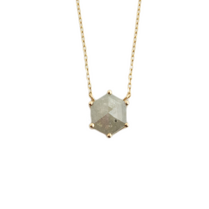 1.48 ct Hexagon Rustic Diamond Necklace